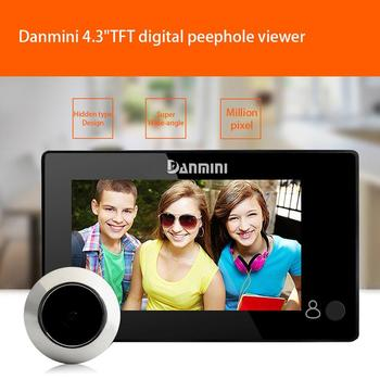 Danmini YB-43CH 4.3 Inch Hidden Cat Eye Night Vision Video Doorbell SL