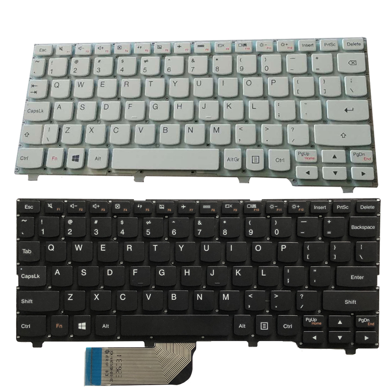 New US Laptop Keyboard For Lenovo Ideapad 100S 100S-11IBY English Keyboard Black/white