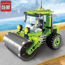 Legoingly Building Block City Cars road roller 102pcs Educational Bricks Toy Boy Gift Compatible