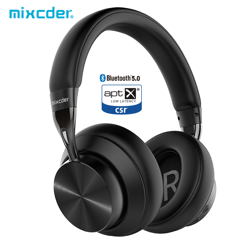 Mixcder sem fio bluetooth fones de ouvido e10 atualizado aptx baixa latência aeronáutica metal dobrável cancelamento de ruído ativo fone de ouvido