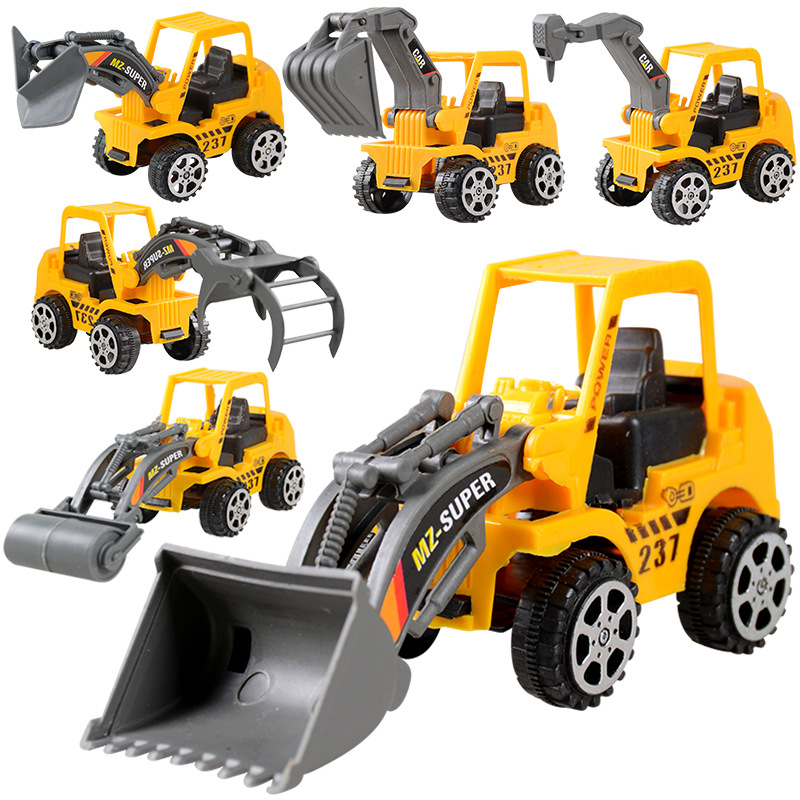 6 Styles Mini Engineering Car Tractor Toy Excavator Model Truck Model Classic Toy Alloy Car Children Toys Engineering Vehicle