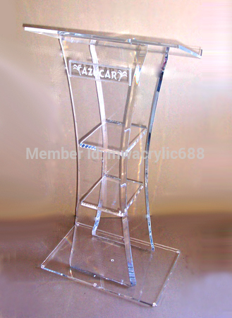 Pulpit Furniture Free Shiping High Quality Cheap Acrylic Lectern Acrylic Podium Plexiglass