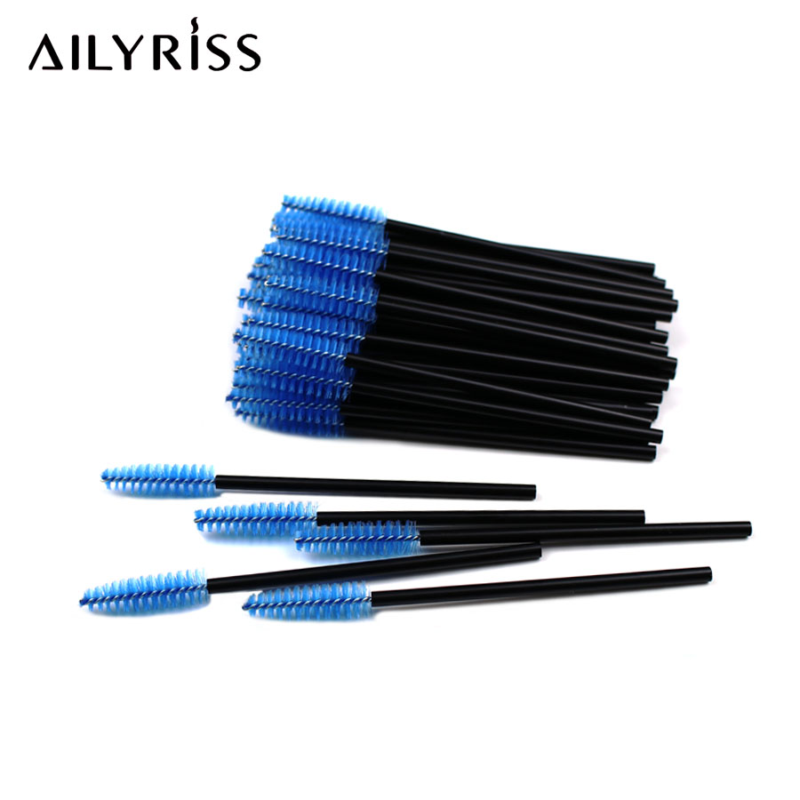 Eyelash Brushes 200Pcs Disposable Mascara Wands Mini Lashes Brushes Mascara Applicator Micro Spoolie Brushes For Eyelash Eyebrow