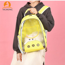 Pet-Backpack Travel-Bag Transparent-Carrier Space Capsule Cat Carrying Dog Outdoor Small