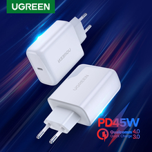 UGREEN PD45W Fast Chrarger Quick 4.0 3.0 USB Type C Charger QC3.0 4.0 for iPhone Notebook USB PD Charger Mobile Phone Charging