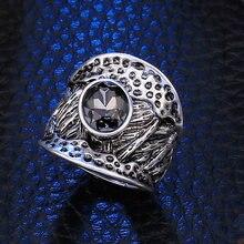 Женское Винтажное кольцо с кристаллами регулируемое эластичное