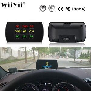 Image 1 - P12 רכב OBD2 דיגיטלי מד OBD HUD אוטומטי אבחון כלים GPS T800 דיגיטלי מד TFT HD תצוגה עבור כל מכוניות 25 פונקציות