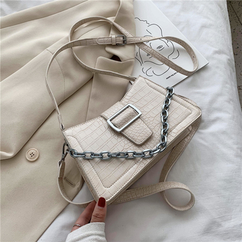 Luxury Design Crocodile Pattern Small PU Leather Crossbody Bags For Women 2020 Shoulder Handbags Female Travel Cross Body Bag