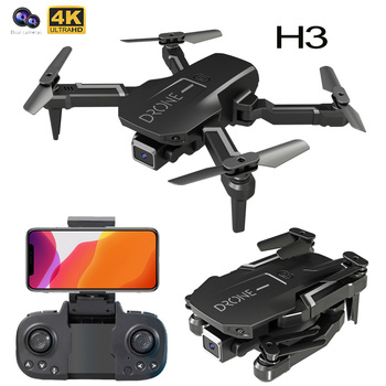 H3 Mini Drone With 4k Camera Foldable Quadcopte WIFI Wide High Hold Professional RC Helicopter One-Key Return RC Drone Toys 1