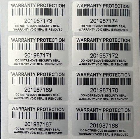 1000 pces protecao garantia adesivo 30mm x 15mm seguranca selo inviolavel garantia adesivo falso
