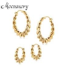 Hoop-Earrings Huggie Tidal-Hoops Moonmory Women Jewelry Graduated 925-Sterling-Silver