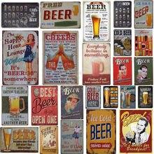 Placa de metal placa de metal sinal de metal do vintage pub estanho placa de metal decoração de parede para bar pub clube homem caverna placas decorativas