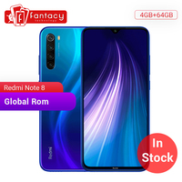 In stock Global ROM Xiaomi Redmi Note 8 4GB 64G 48MP Quad Camera Smartphone Snapdragon 665 Octa Core 6.3 FHD Screen 4000mAh