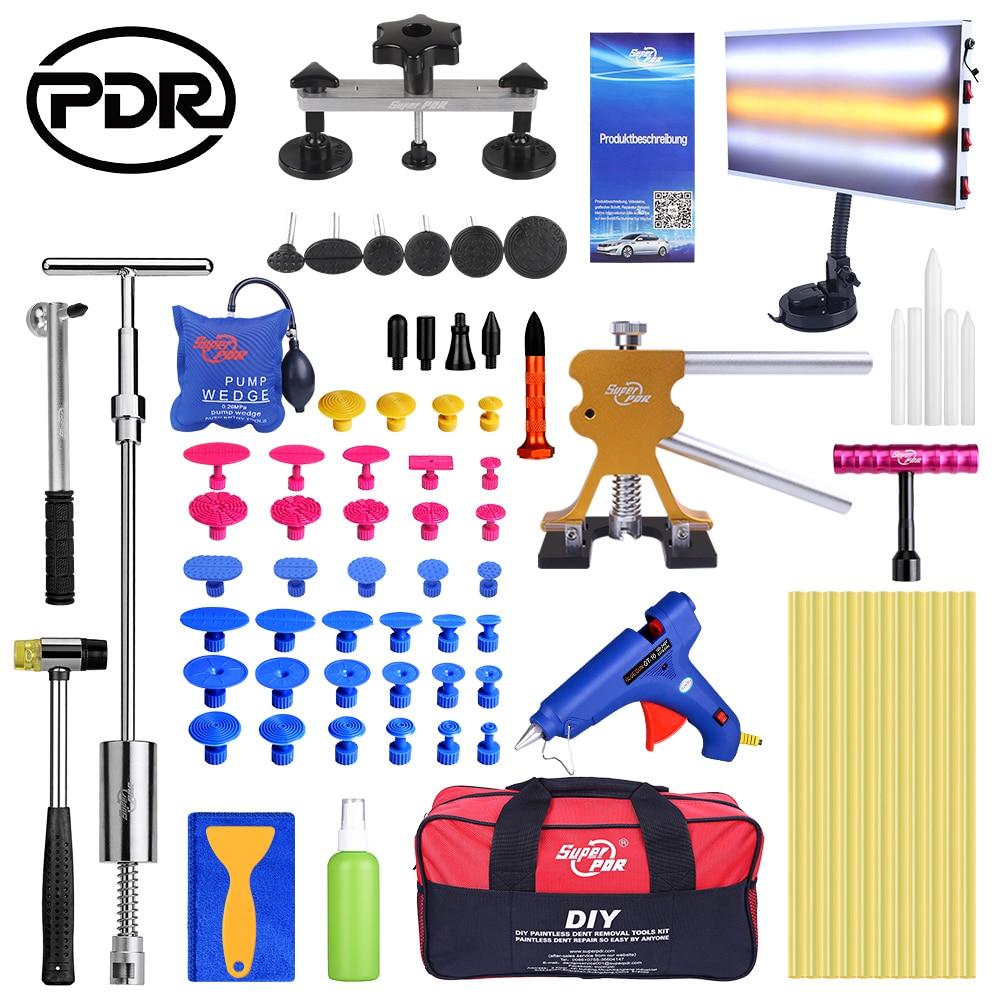 PDR Slider Hammer Rubber Hammer Glue Gun Glue Sticks Tap Down Pen LED Line Board Car Body Dent Damage Repair Tools Auto