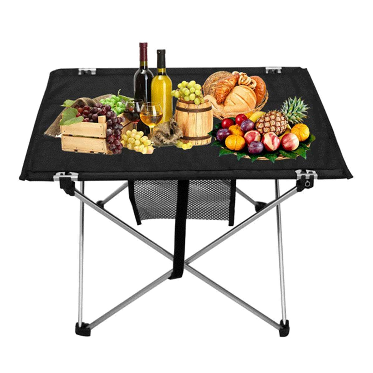 Portable Folding BBQ Table Camp Table Rustproof  Tabletop Outdoor Heavy Duty Folding Table Portable Picnic Camping BBQ Party