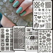 1pc 6X12 image Plate 1-32 Nail Stamping Design template,nail art stamping plate illusion nails - mind blown High-end Image