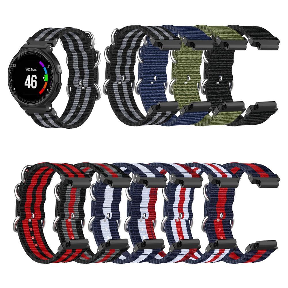 Replacement Nylon Watch Band Bracelet Belt Strap Wristband For Garmin Forerunner 220 230 235 630 620 735 735XT GPS Wtach Wear