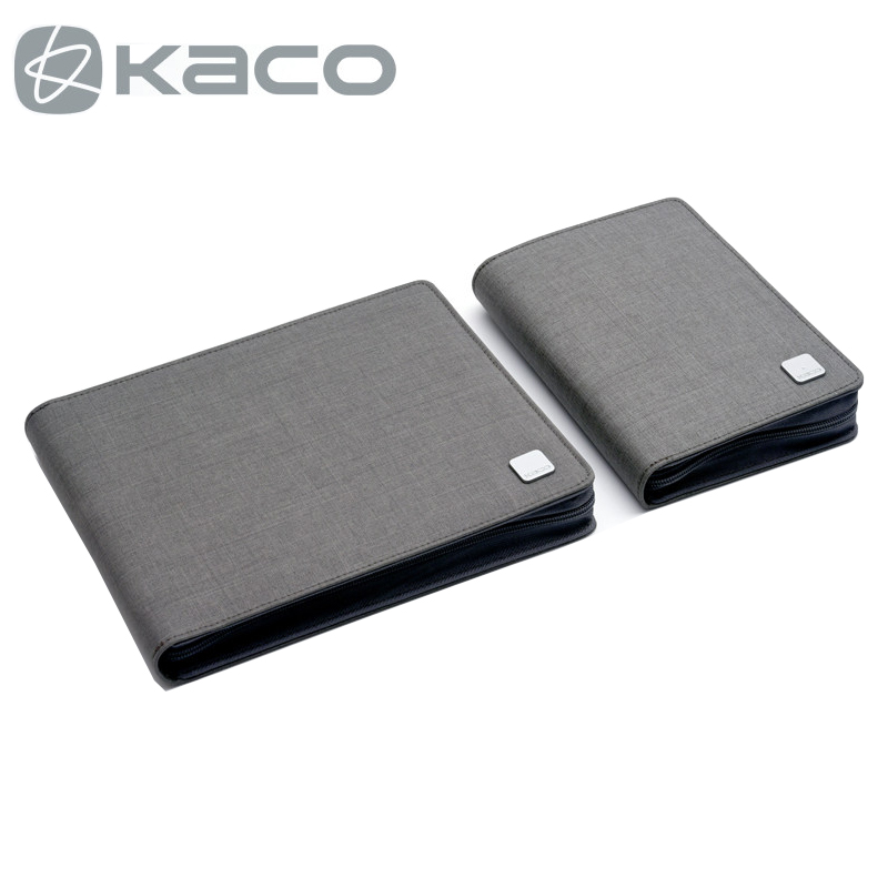 KACO ALIO Pen Storage Bag Portable Zipper Pencil Bag Pen Case Waterproof Canvas Black Grey for 10 20 Pens 1