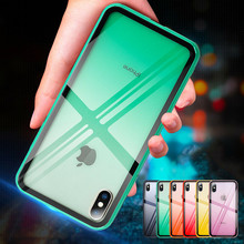 NJIEER Gradient Color Phone Case For iPhone X XR XS Max 7 8 6 6S Plus Ultra Thin Soft Cover Clear Transparent Cases