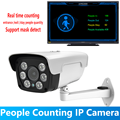 2MP Starlight Intelligent People Counting Bullet IP Camera 1080P Audio PoE 2.8-12mm Zoom Real Time Count Mask Detection Onvif