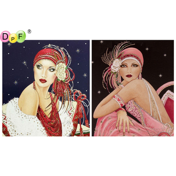 5D round/square Cross Stitch woman DIY Diamond Painting Diamond Embroidery kits Diamond Mosaic home Decorative drill image
