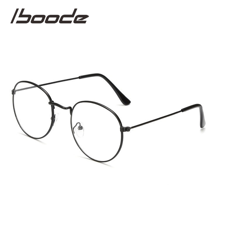 IBOODE Reading Glasses Women Men Round Presbyopic Eyeglasses Female Male Matel Hyperopia Diopter Eyewear Magnifying Spectacles