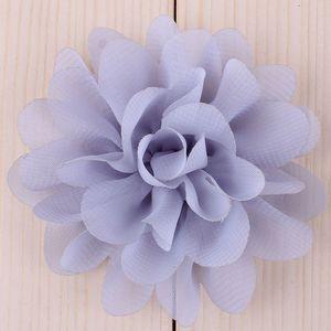 """Image 4 - Buquê boutique de flores de chiffon para cabelo, 20 peças, 5cm, 1.97 """", acessórios para cabeça de cabelo, tecido sem uso diy clipes clipes"""