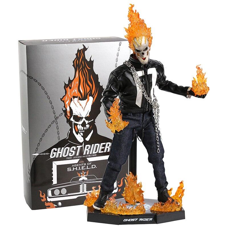 Jouets chauds TMS 005 Marvel Agents de S.H.I.E.L.D. Bouclier fantôme cavalier PVC figurine à collectionner modèle jouet avec lumière LED