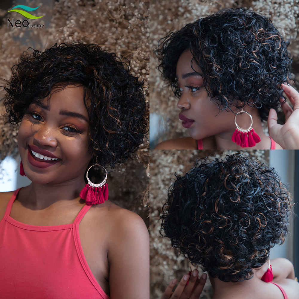 Pixie Cut Bob Wigs Human Hair Wigs Jerry Curly Wig Short Afro Wig Curly Human Hair Wig Short Bob Wig