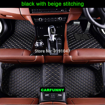 CARFUNNY Right hand drive car floor mats for Infiniti ESQ Nissan Juke accessories 5D  heavy duty rugs carpet foot case liners