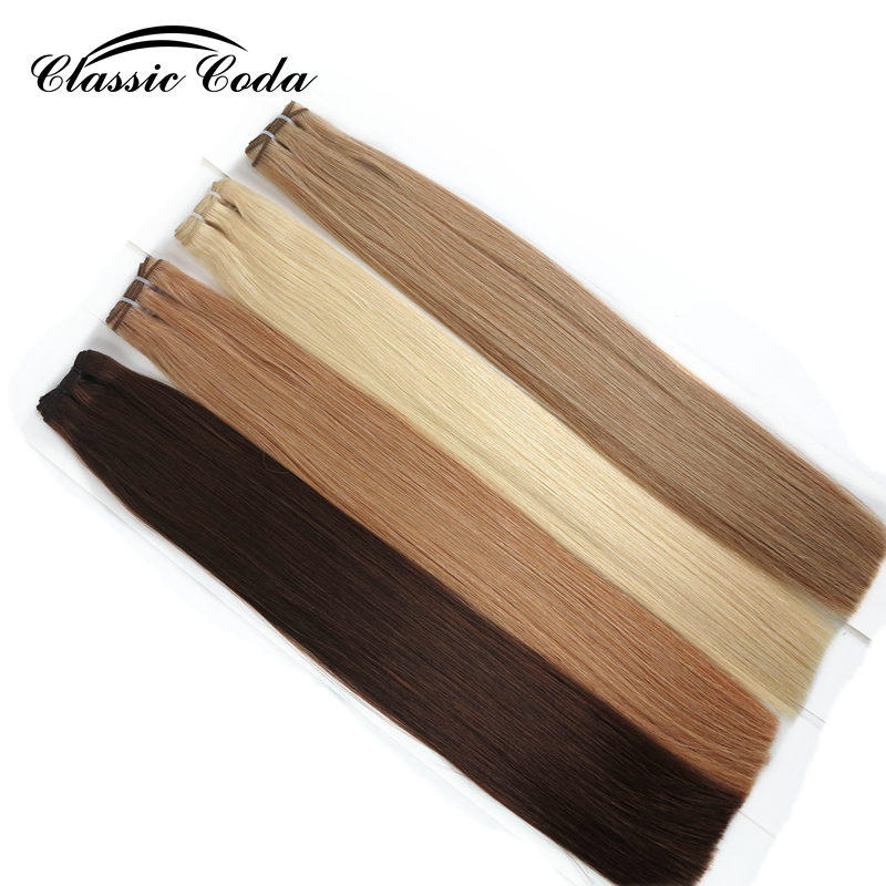 Classic Coda Hair Extension Weft Weaving Straight 100g Russia Natural Hair Extension Cuticle Remy Hair Weft 16''18'' 22''