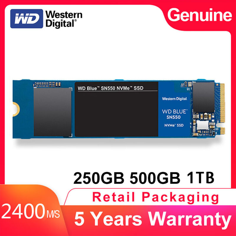 Top Western Digital Blue SN550 SSD Drive 250GB 500GB M 2 2280 NVMe PCIe Gen3 2 Internal Solid State Drive For PC Laptop NoteBook