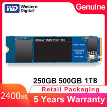 Top Western Digital Blue SN550 SSD Drive 250GB 500GB M.2 2280 NVMe PCIe Gen3*2 Internal Solid State Drive For PC Laptop NoteBook