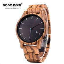 Relogio Masculino DODO DEER Wood Watch Men Top Luxury Brand Wrist Watches Male Clock in Wooden Gift box Great Gifts for Him OEM personality creative design customers photos uv printing customize wooden watch customization laser print oem great gift watches