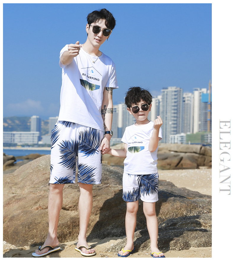 H9142c9409b4a43d4981dd0c76e1efe8f8 - Summer Family Matching Outfits Mother Daughter Beach Vocation Dresses Summer Dad Son T-shirt+Shorts Couples Matching Clothing