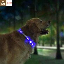 Youpin Pet lekki kołnierz wodoodporny xl81 5001 anty zgubiony Tag LED oświetlenie ostrzegawcze USB ładowanie kołnierz dla psa
