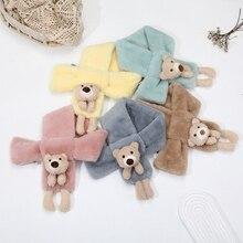 Scarf Girls Cartoon-Bear Snood Rabbit Plush Adult Autumn Winter Children Fashion Cute