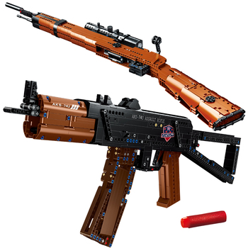 1004Pcs Military Series Assault AKS-74U Rifle KAR 98K Sniper Building Blocks Game Gun Ideas Bricks Children Toys Christmas Gifts 1
