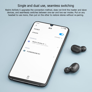 Image 2 - الأصلي شاومي ريدمي إيردوتس 2 S TWS بلوتوث سماعة ستيريو باس BT 5.0 eeadphone مع هيئة التصنيع العسكري يدوي سماعات الأذن AI التحكم