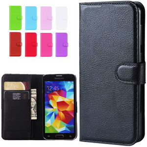 Leather Flip Wallet Case For Samsung Galaxy S5 Neo SM-G903F S5 i9600 G900F GT-I9600 Classic Case For Samsung S5 Mini Cover(China)