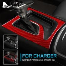 FLUGGESCHWINDIGKEIT Carbon Fiber Innen Trim Getriebe Shift Panel Abdeckung Aufkleber für Dodge Ladegerät 2015 2016 2017 2018 2019 2020 Zubehör