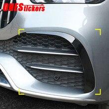 Para mercedes benz classe gle w167 gle350/450/53 gle400d amg linha coupe 2020 + acessórios do carro amortecedor dianteiro lábio guarnição capa adesivo