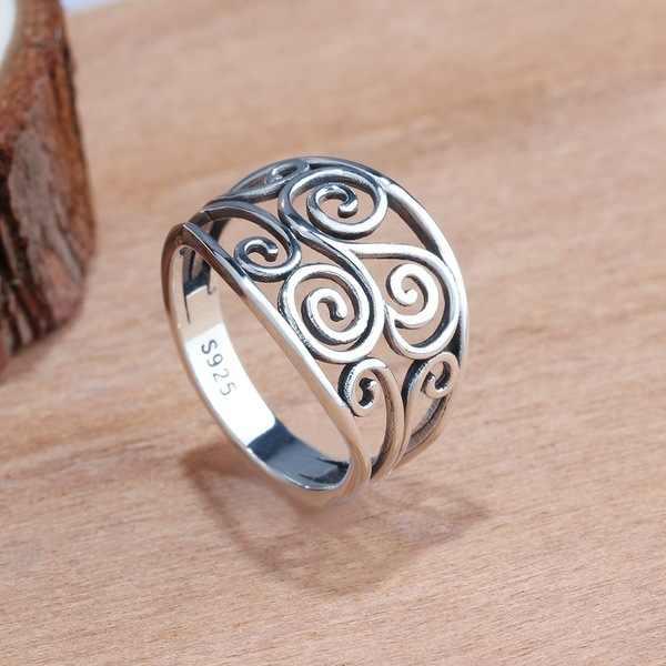 Sello 925 anillo De plata sólida para mujer 100% joyería fina S925 anillo De boda Anillos De piedras preciosas