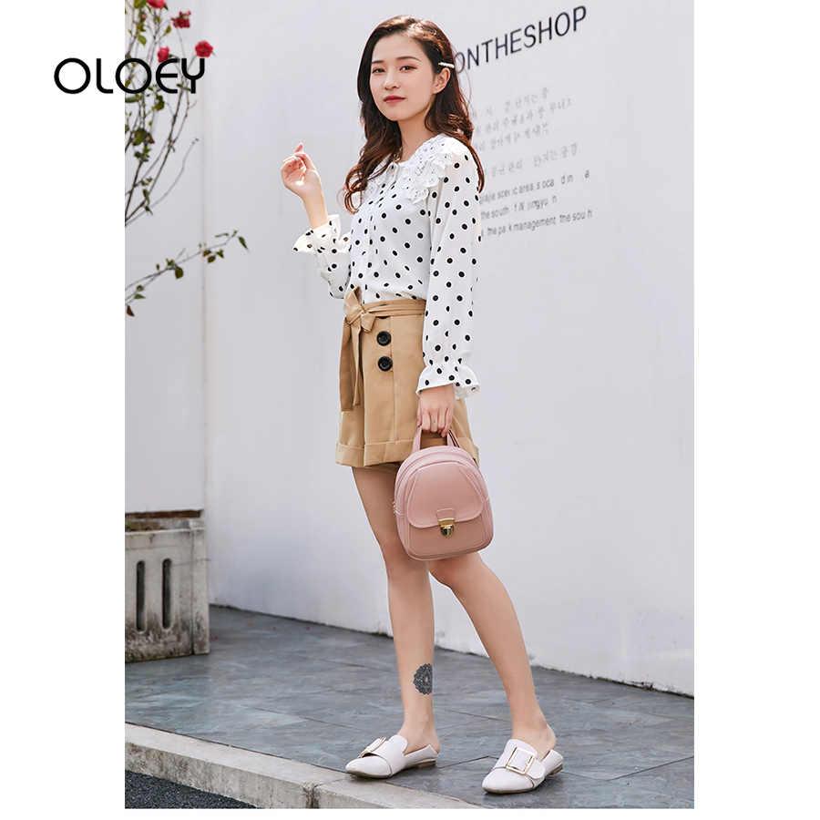 Kadın deri sırt çantası 2019 yeni kore moda kadın sırt çantası sevimli küçük bayan omuz çantaları genç kızlar için Mini Mochila kese