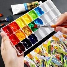 Hard-Cover Square-Color Pigment Matching-Box Storage-B Gouache Bogrino 24/36/48-lattice