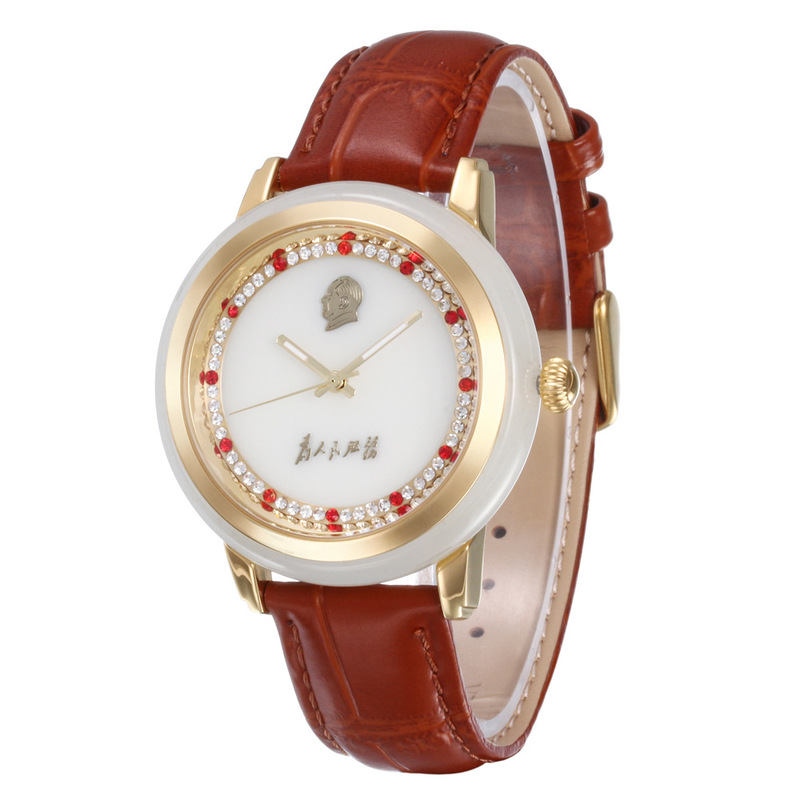 2020 New Top Fashion Manufacturers Custom-made Wholesale Watches Lovers With Hetian Jade White Watch Quartz A Undertakes