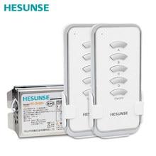 HS QA024 2N1 4ช่องรีโมทคอนโทรลไร้สายสวิทช์2 Remotesและ1 Receiver