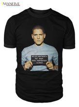 Prison Break T Shirt Michael Scofield Mug Shot Tshirt Mens Womens Unisex Fashion 2019 100% Cotton Short Sleeve O-Neck Tops