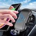 Cargador de coche inalámbrico de 10W sujeción automática soporte de teléfono de carga rápida montaje 2 en 1 soporte de ventilación de aire del salpicadero