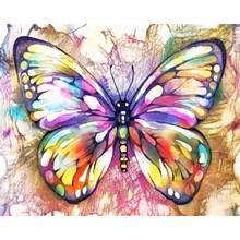 Бабочка красочные акриловые Краски по номерам diy Наборы для